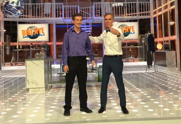 Dalton Ludwick with Bill Nye
