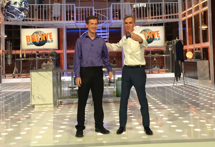 Dalton Ludwick with Bill Nye