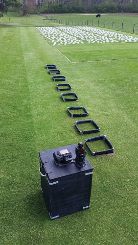 annual bluegrass weevil monitoring and imaging setup