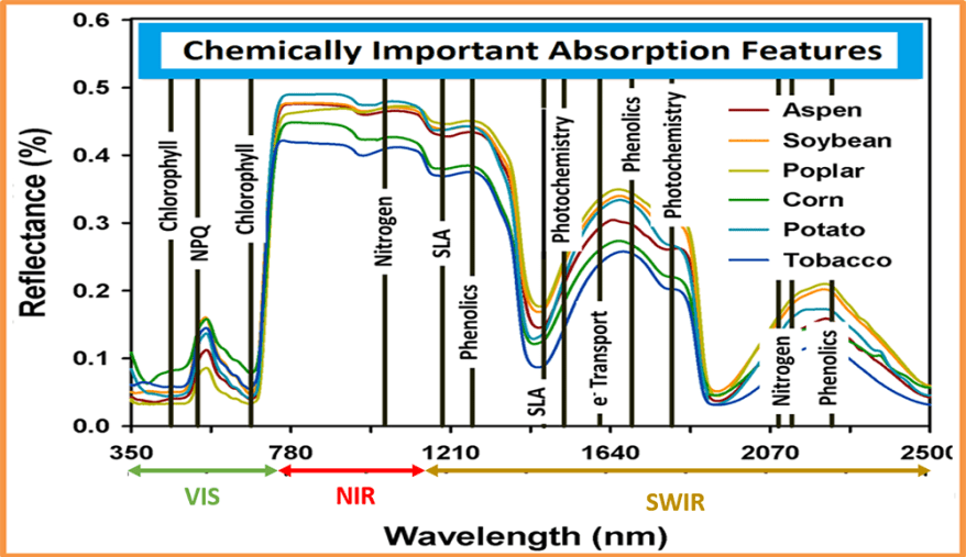 spectral profile graph