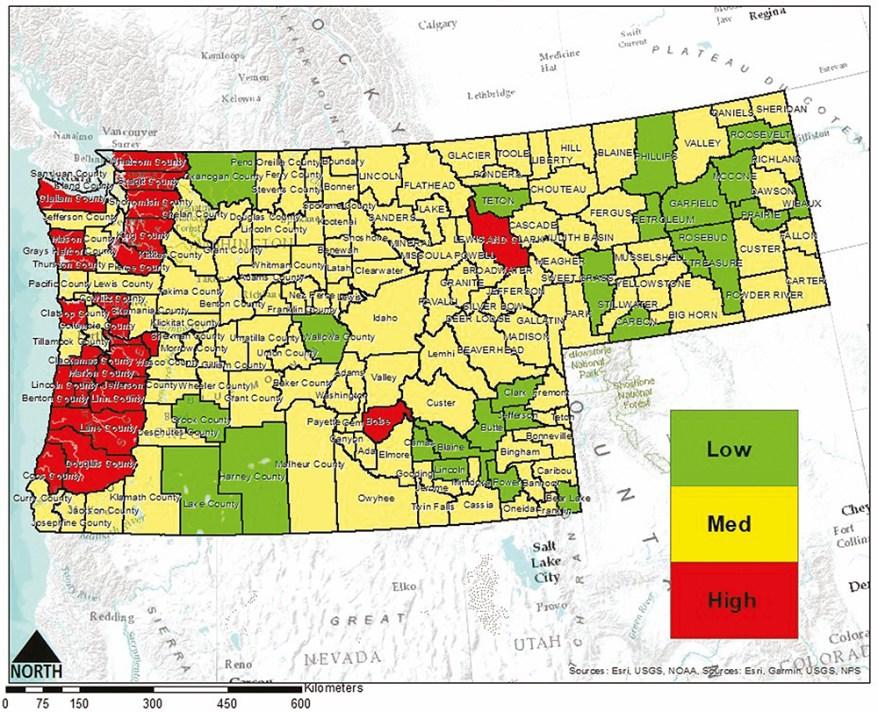 Vespa mandarinia risk map