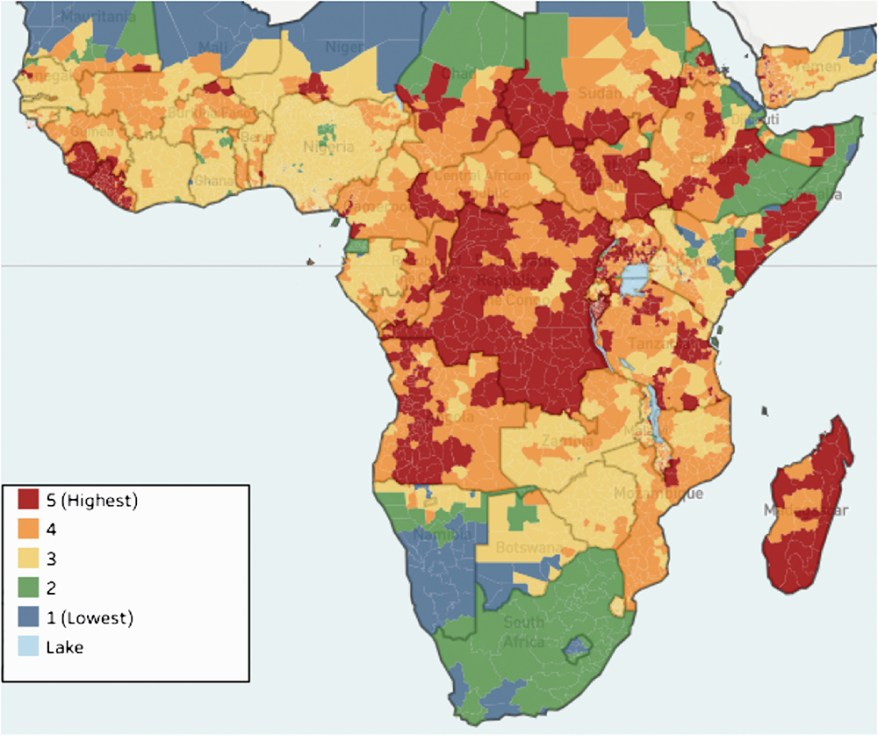 food security risk in Africa due to fall armyworm