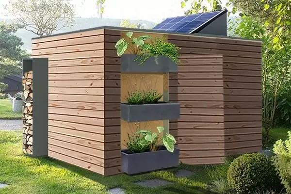 abri de jardin en bois isole