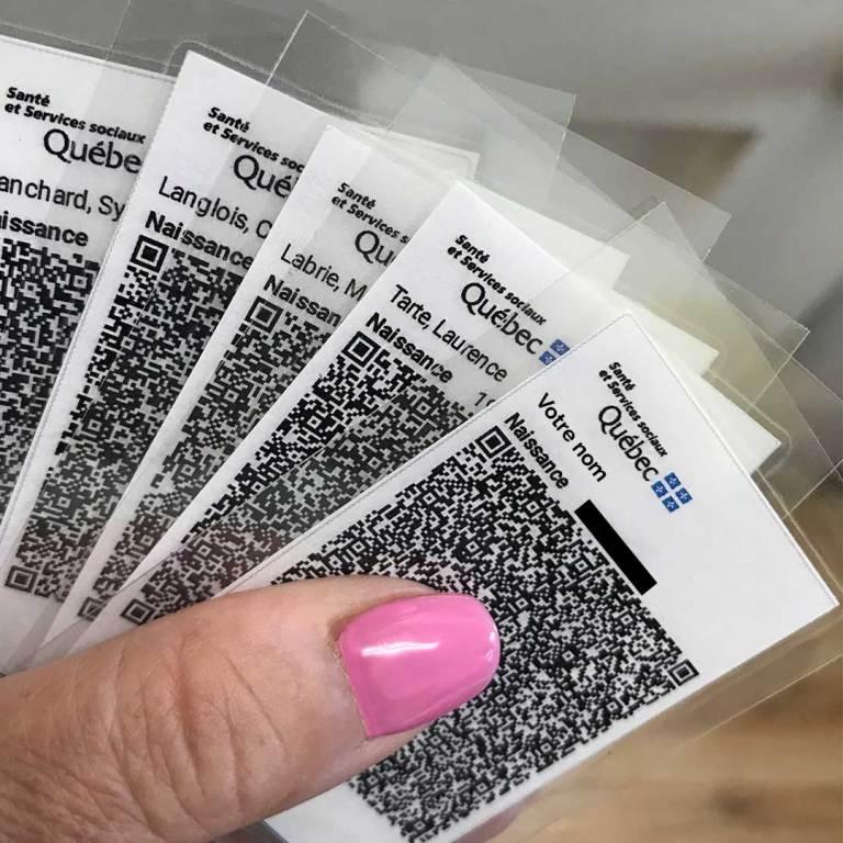 Passeport vaccinal plastifié