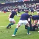 Entrainement rugby pick & go – Equipe d'Irlande