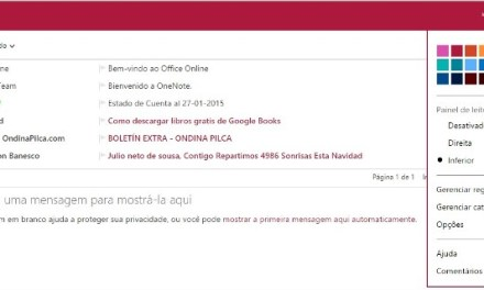 Personalizando o meu Hotmail outlook