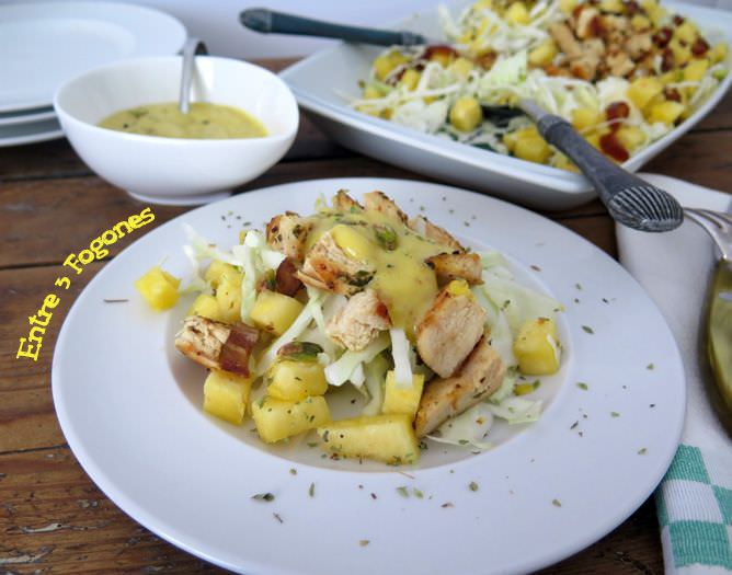 Photo of Ensalada de Pollo y Piña con Aliño de Miel