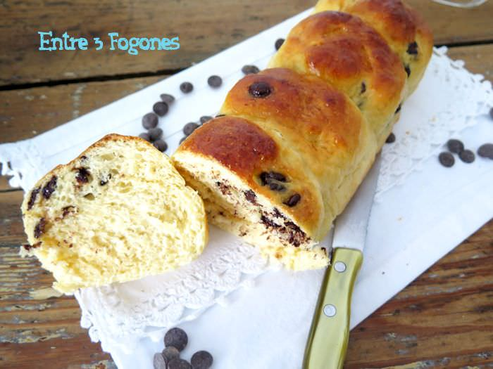 Brioche con Pepitas de Chocolate