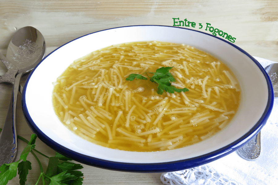 Photo of Sopa de Fideos con Caldo de Cocido Madrileño