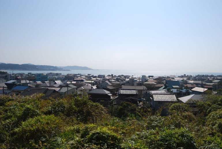 Vistas de la playa de Kamakura