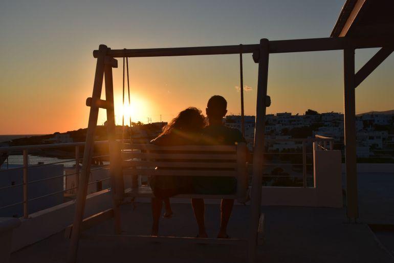 Puesta de sol en las Islas Griegas