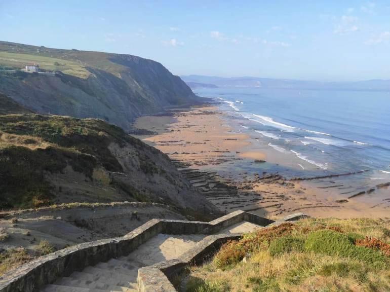 La playa de Barrika (País Vasco)