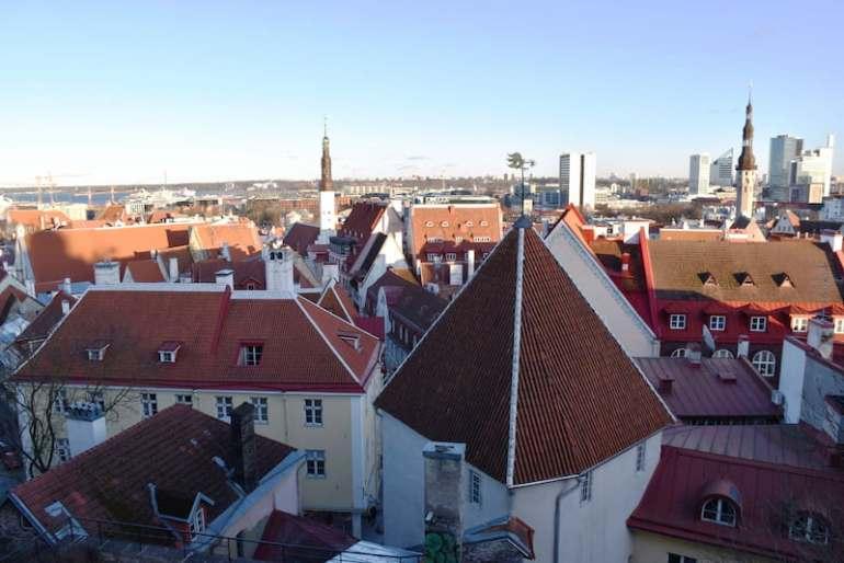 Vistas de Tallin desde Toompea