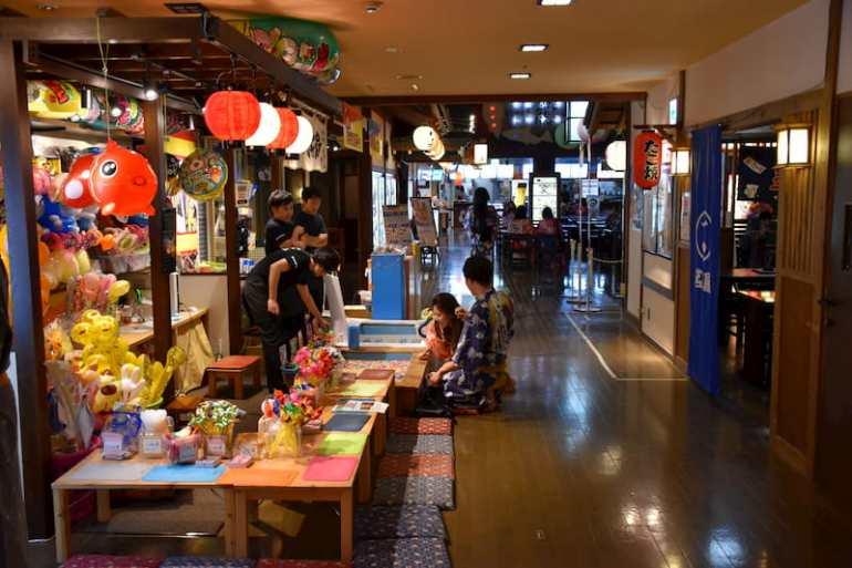 Tiendas del onsen