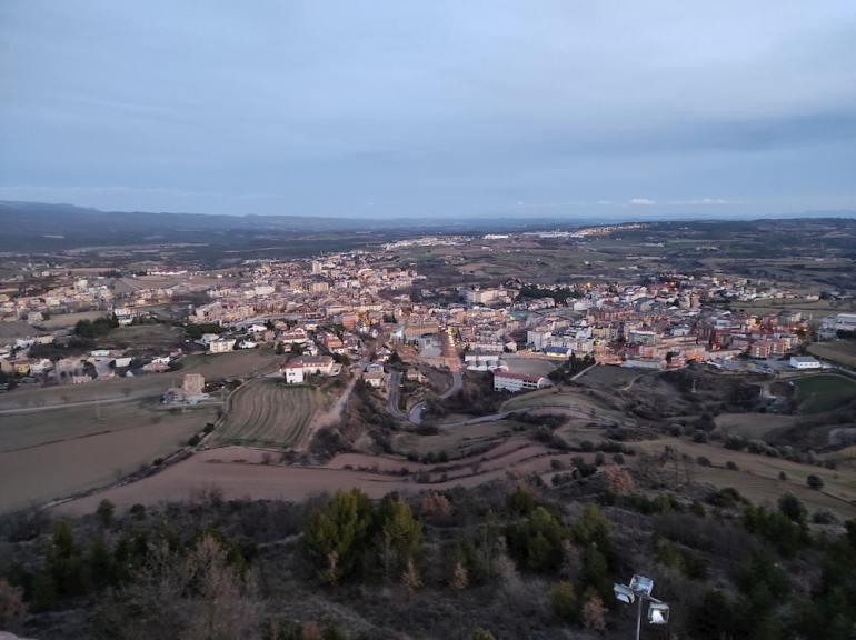 Vistas de Solsona desde Castellvell