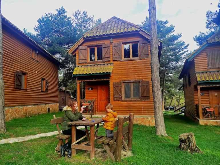 Cabaña de madera del Xalet de Prades