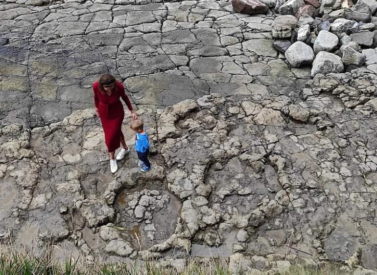 Huellas de dinosaurio. Asturias con niños