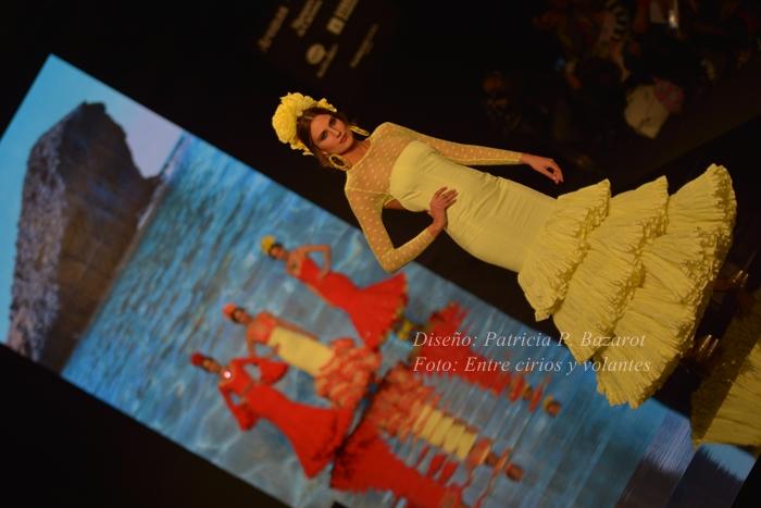 Patricia Bazarot simof 2015 trajes de flamenca amarillos