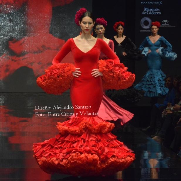 trajes de flamenca rojos alejandro santizo