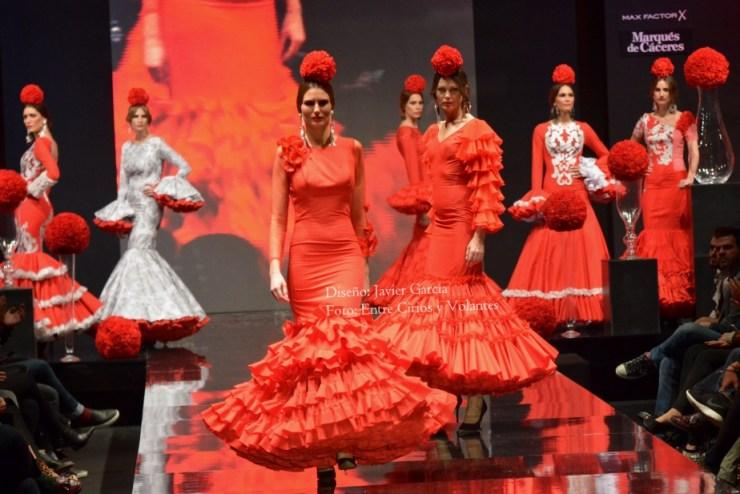 trajes de flamenca rojos javier garcia