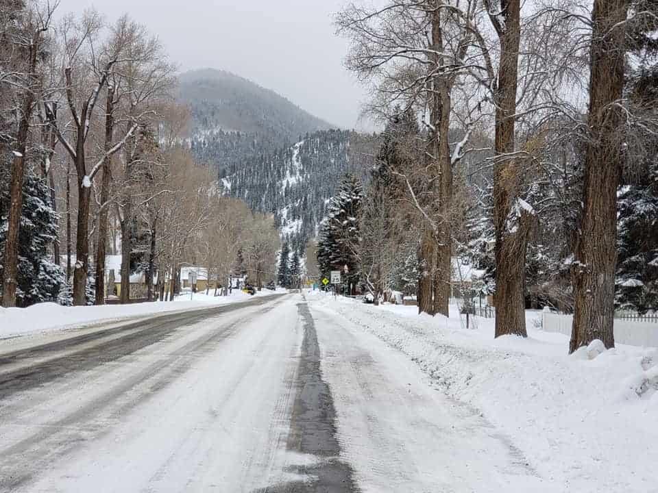 The metropolis of Lake City, Colorado in the winter