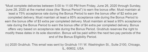 The fine print on the bonus offer. Kinda straight forward, kinda not.