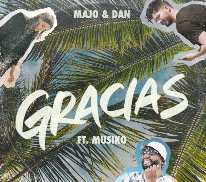 Majo y Dan junto a Musiko dan «Gracias»