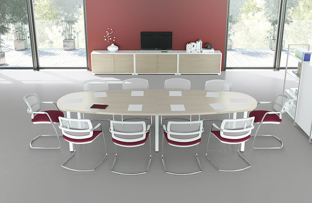 Tables De Runion Table Ovale IQ 10 Personnes Erable