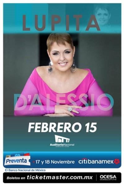Lupita Dalessio Auditorio Nacional 2017