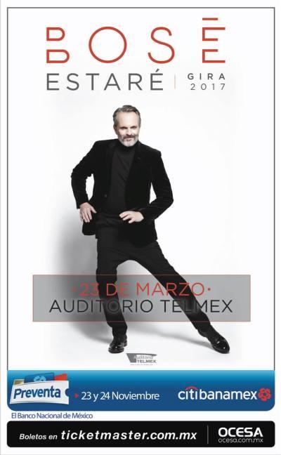 Miguel Bose Auditorio Telmex 2017