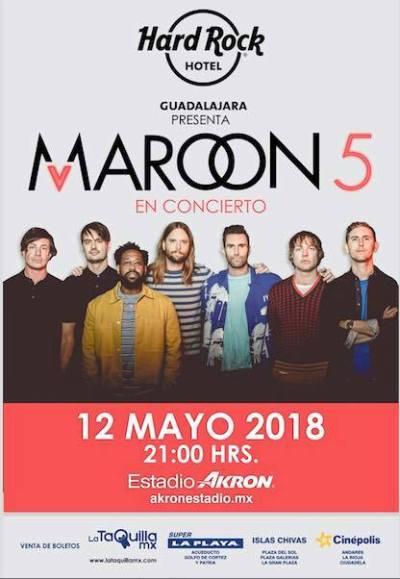Maroon 5 Estadio Akron Guadalajara