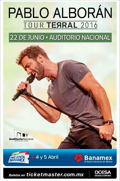 Pablo Alboran Auditorio Nacional 2016
