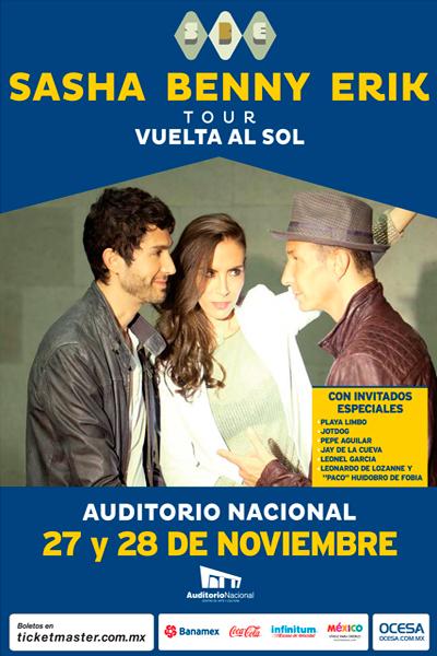 Sasha Benny Erik Auditorio Nacional