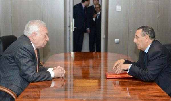 Margallo junto al ministro marroquí en Madrid. / MAEC