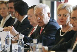 El ministro de Asuntos Exteriores y de Cooperación, José Manuel García-Margallo en la VII Edición del Foro Hispano Alemán. /MAEC