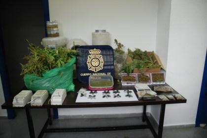 Droga incautada por la policía. / Interior