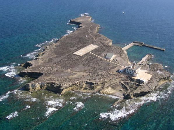El islote de Alborán fotografiado desde un avión. / Google