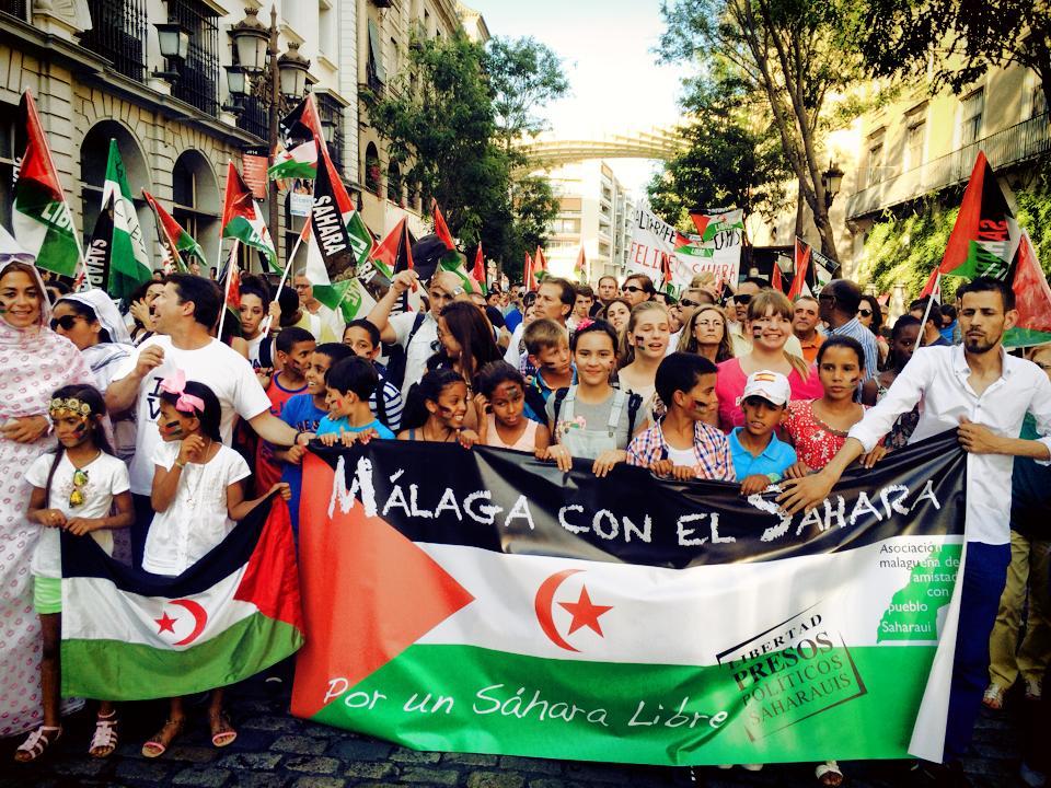 Manifestación de apoyo al pueblo saharaui en Sevilla. / S.R