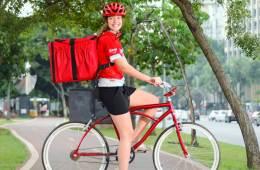Fazer entregas de bike