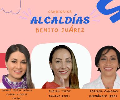 Candidatos alcaldía Benito Juárez