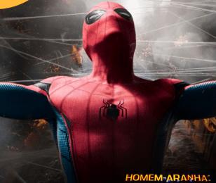 Cosplayers interagem com fãs do Homem-Aranha
