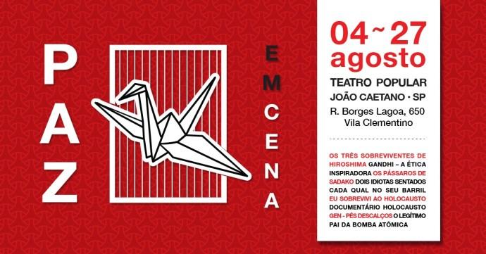 """Teatro pela paz: última semana da mostra """"Paz em Cena"""""""