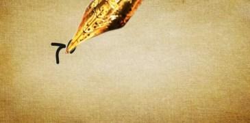 A caneta rasga o céu de nossa imaginação