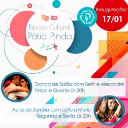Pátio Pinda inaugura espaço cultural para aulas de dança e eventos empresariais