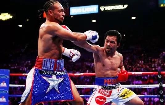 manny pacquiao vs keith thurman, noticias de boxeo, victoria combate peso superwelter, velada, boxeadores, entrenar boxeo