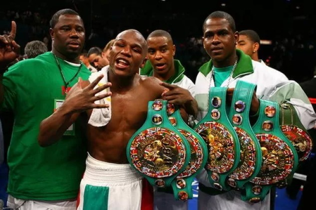 floyd mayweather campeon 5 categorias