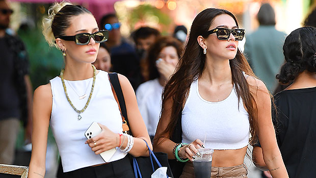 Amelia Hamlin Rocks A White Crop Top On Shopping Outing With Sister Delilah In NYC — Photos