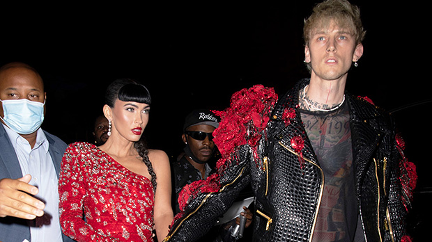 Megan Fox Reunites With Machine Gun Kelly In Red Mini Dress For Met Gala After-Party