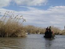 Barca en un dels canals de l'Albufera.