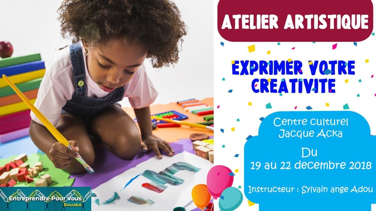 Atelier artistique enfant et arbre de Noël Entreprendre Pour Vous